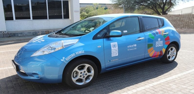 UNDP and UNICEF agencies launch the first ever electric cars in Namibia